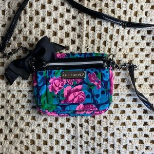 GENUINE Betsey Johnson bag with skull floral print